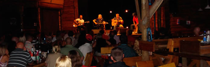 Live shows at the Barn, Plett