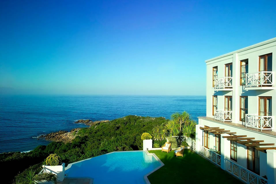 The view from the Plettenberg Hotel, which was restored by Liz McGrath.