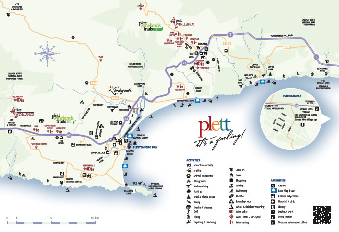 Plett Area Map