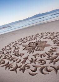 sculptures in sand