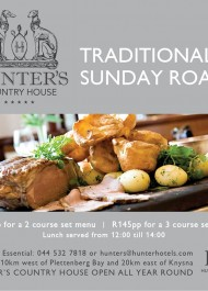 Hunters Country House Sunday Roast Ad