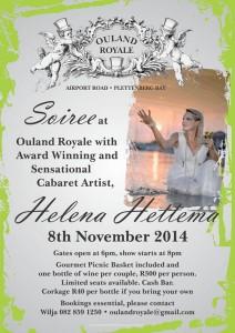 Helena Hettema cabaret at Ouland Royale