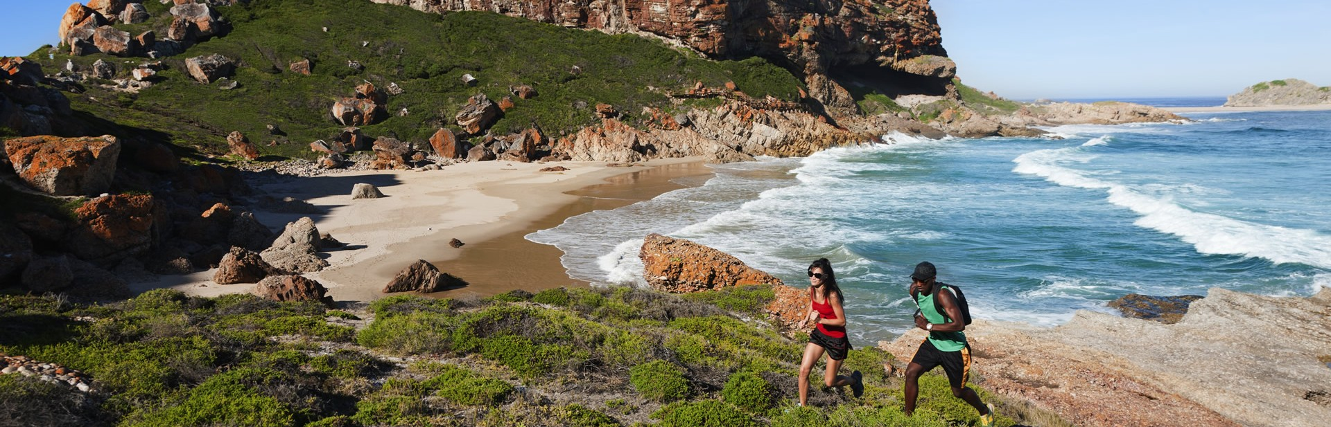 Runners on Robberg Trail Run