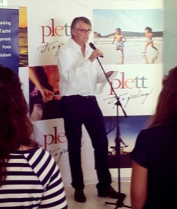 Peter Wallington's welcome address at the Plett Wine & Bubbly Festival launch