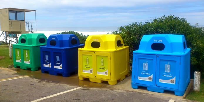 recycling bins in Plett