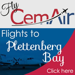 Fly CemAir to Plett from Johannesburg and Cape Town