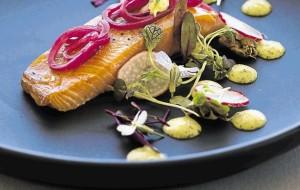 A seafood dish prepared by Garth Stroebel at Equinox Restaurant in Plett