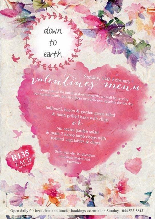 Valentine's Day Specials in Plett on Sunday 14th Feb 2016