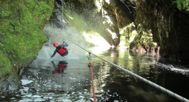 Africanyon, kloofing and zip line activity in Plett