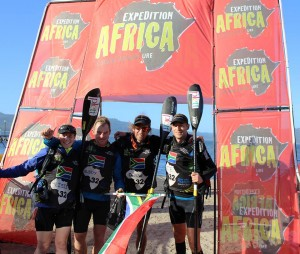 Plett Adventure Racing Team at the finish of Expedition Africa 2016