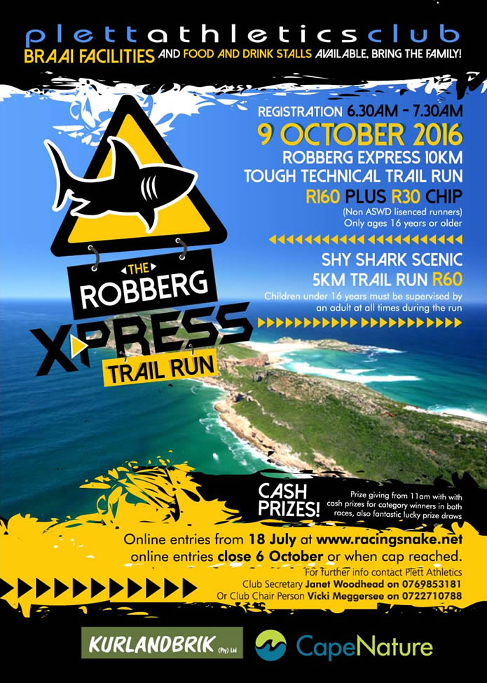 Robberg Express Trail Run 2016