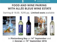 Pairing with Allee Bleue at The Fat Fish