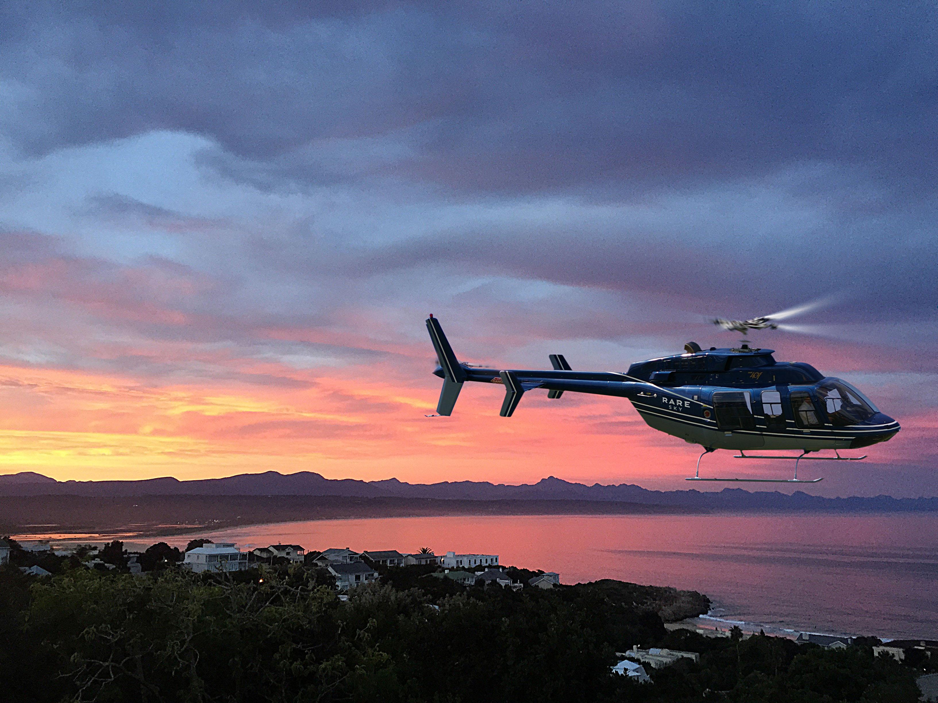 Rare Sky Sunset flyover