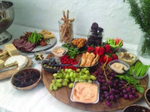 PEEBEE SAYS: 'A week after my tour, I was asked to assess two Sauvignon Blancs from The Cape… they fell so far short, lacking that cutting-edge long acid that holds the food fl avours' - the image above shows part of the scrumpdelicious array of culinary treats that accompanied Plett products of the vine during this year's Wine & Bubbly Festival