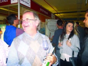 ALL ABOUT THE WINE: Peter Bishop spreads the good Plett wines word during the PE Wine Show earlier this year