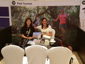 Plett Tourism was represented by Lara Mostert (L) and Natasha Marnewecke at the roadshow in India