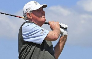 John Bland Surveys a shot at the Wales Senior Open in 2010
