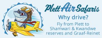 Plett Air Safaris - Why drive? Fly from Plett to Shamwari and Kwandwe Game Reserves.
