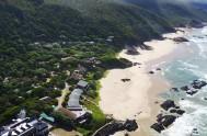 Aerial view of Arch Rock Resort in Plettenberg Bay