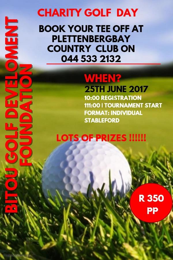 bitou golf development charity golf day