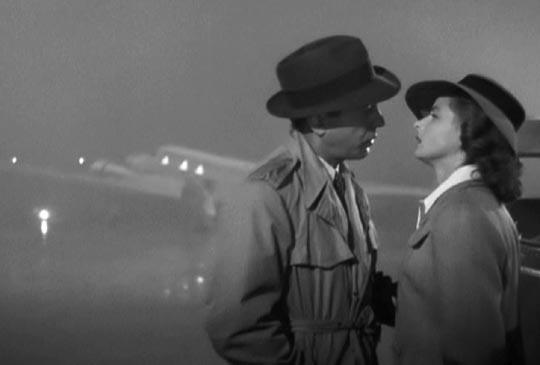 final scene of Casablanca, movie, screening in Plett