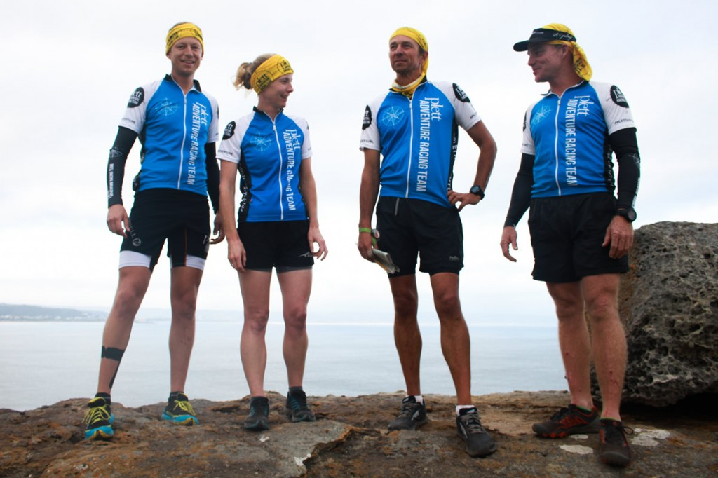 The Plett Adventure Racing Team: Petrus Maree, Kate Southey, Drew Scott and Andrew Damp