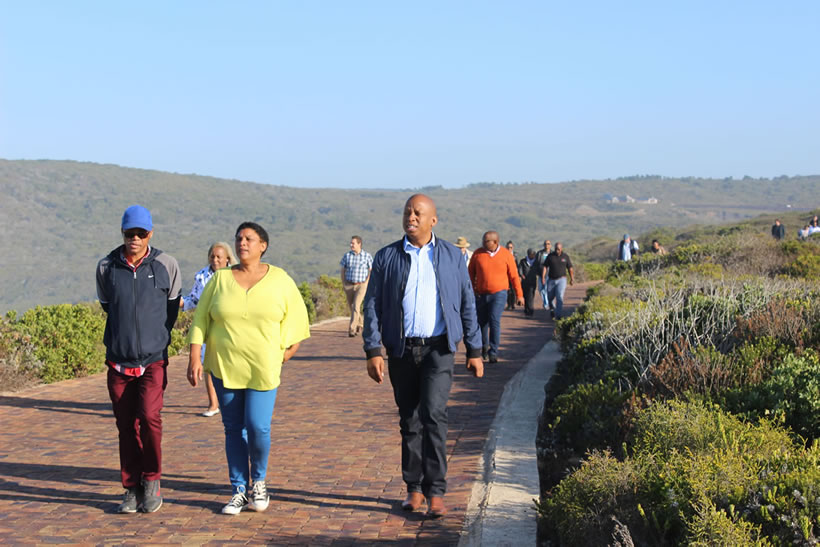 Walking from the gates to the car park on Robberg Nature Reserve