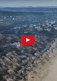 Haunting drone footage of fire devastation in Plett