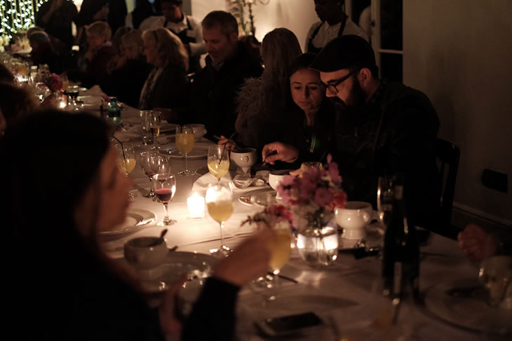Guests at Plett Food & Film enjoy a Moroccan themed dinner after the screening of Casablanca