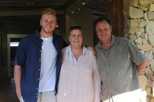 From L to R: Brendan, Heidi and Robbie Leggat