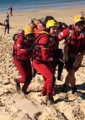 Land and sea rescue training exercise in Plett