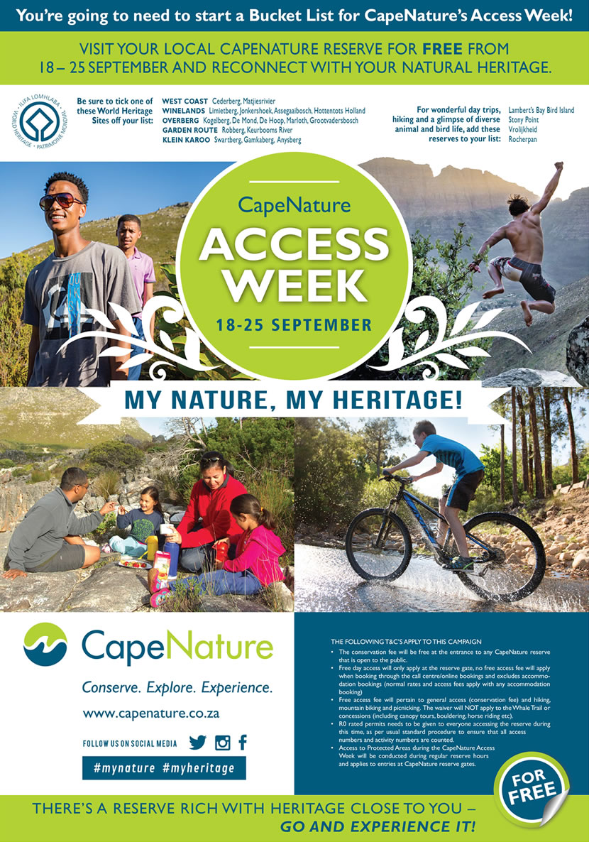 CapeNature Access Week poster
