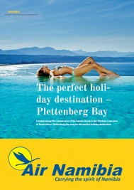 Plett in Air Namibia 'Flamingo Magazine'