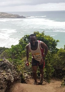 Leading the pack Melikhaya Msizi on the Robberg Xpress #plettitsafeeling #RobbergXpress