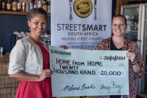 Melanie Burke (StreetSmart SA) and Elisabeth Wenz (Home from Home- Bitou Family Care)
