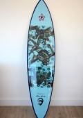 Shaun Tomson replica surfboard auction for Sabrina Love