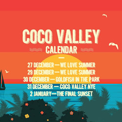 Coco Valley music events in Plett this summer - NYE Party
