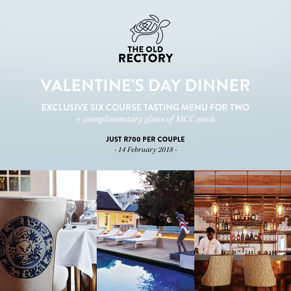 The Old Rectory in Plettenberg Bay - Valentines Day Special 14 Feb 2018