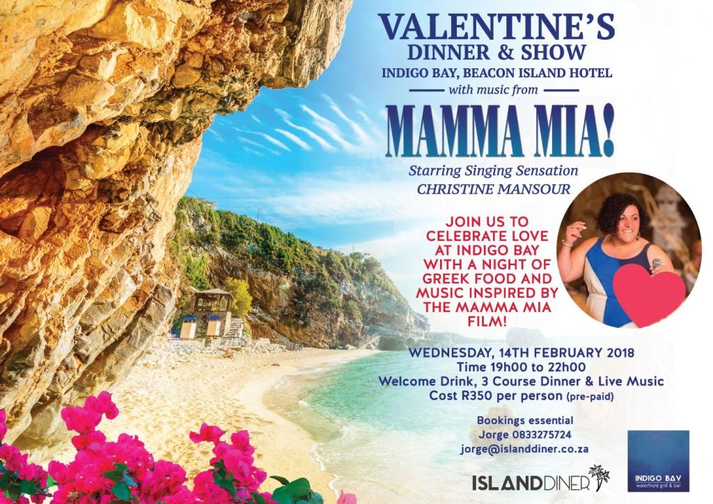 Valentine's Day Wed 14 Feb 2018 at Indigo Bay in Plett