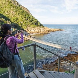 The swing bridge at Storms River attracts many a visitor to the Tsitsikamma section of the Garden Route National Park. Photo: Supplied