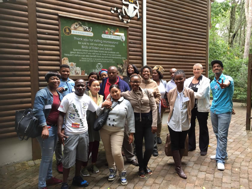 Tourism Ambassadors during their educational at Monkeyland in the Crags, Plettenberg Bay