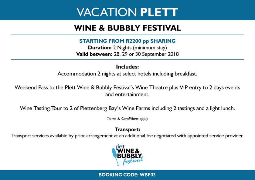 Vacation Plett - Plett Wine & Bubbly Festival