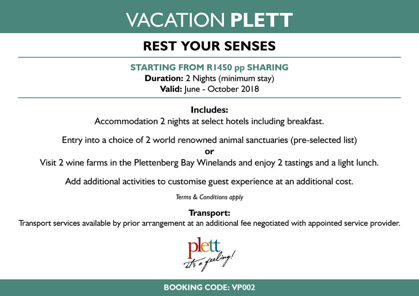 Vacation Plett - Rest your senses