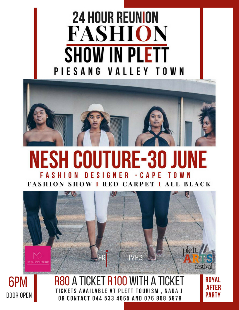 Cape Town Fashion Designer Thuli Sandile at Plett 24 Hr Reunion