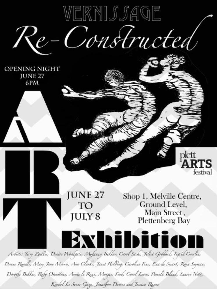 vernissage art exhibition at the 2018 plett arts festival