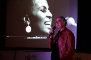 Don Edkins introduces his Mama Africa documentary in Plett
