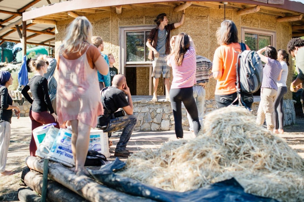 Natural Building Workshop at Heartlands School of Self-Sufficiency