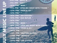 Surf Cafe Gigs in July