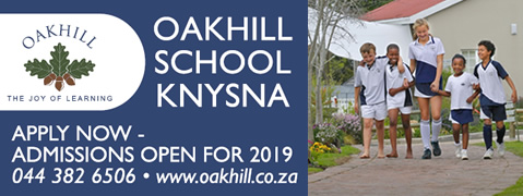 Oakhill School Knysna - Admissions open for 2019 - Apply now