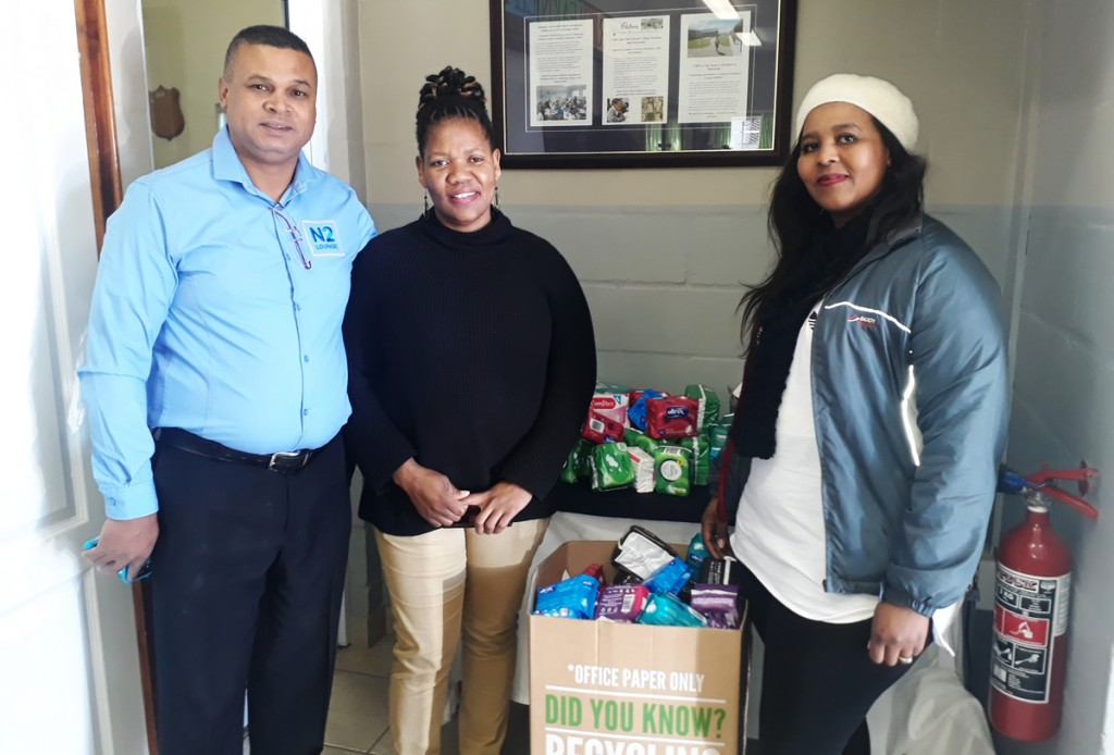 sanitary towel donation murray high n2 lounge